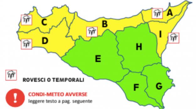 allerta gialla palermo, allerta gialla sicilia, Sicilia, Meteo