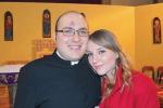Angela Grignano con il fratello Giuseppe, parroco a Castellammare del Golfo