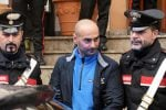 Calogero Lo Piccolo dopo l'arresto