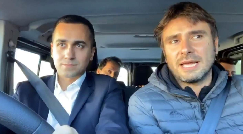 Di Maio e Di Battista in viaggio verso Strasburgo: