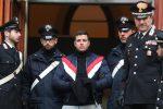 Un momento dell'arresto di Leandro Greco