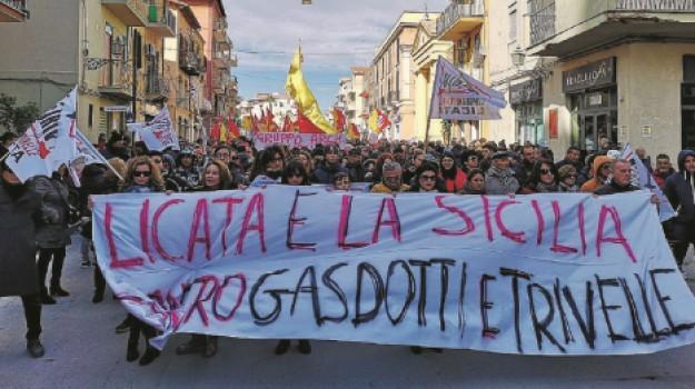 Licata manifestazione, trivellazioni sicilia, Agrigento, Cronaca