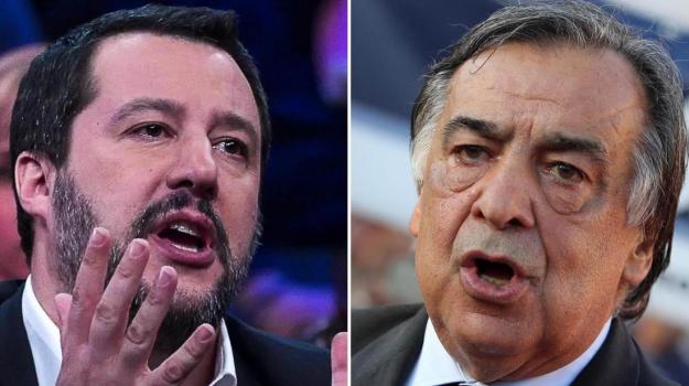 decreto sicurezza, migranti, scontro orlando salvini, Leoluca Orlando, Luigi Di Maio, Matteo Salvini, Sicilia, Politica