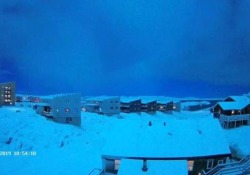 Il video registrato da una webcam a Nuuk, capitale della Groenlandia