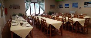Il ristorante del Rifugio Marini a Piano Battaglia