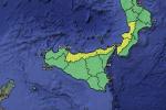 Maltempo, lunedì nuova allerta gialla in Sicilia e nel centrosud