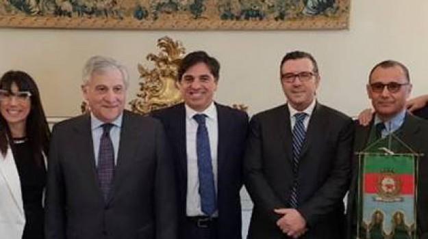 Tajani in Sicilia, Antonio Tajani, Catania, Politica