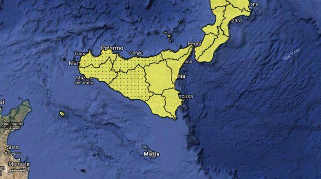 allerta gialla sicilia, Sicilia, Meteo