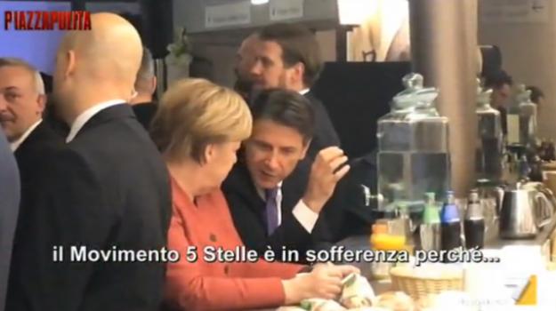 fuorionda conte-merkel, Angela Merkel, Giuseppe Conte, Sicilia, Politica