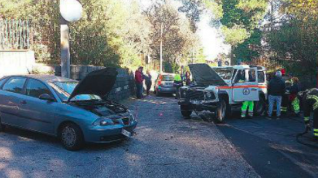 feriti incidente sp 92, incidente Nicolosi, nicolosi, Catania, Cronaca