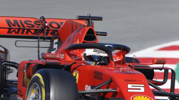 Ferrari, test montmelò, Sebastian Vettel, Sicilia, Sport