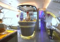 A bordo dell'A380 firmato Emirates: una delle compagnie che si è dotata del velivolo a due piani