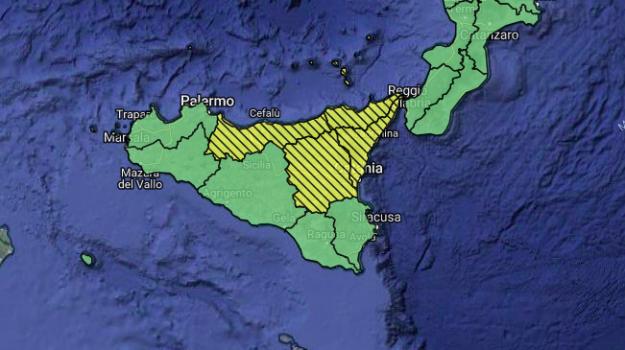 allerta gialla sicilia, meteo sicilia, Sicilia, Meteo