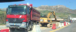 Il cantiere riaperto sulla Palermo Agrigento