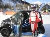 Smart EQ fortwo e-cup, test sulla neve per le racecar - Nicolas Prost