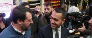 I vicepremier Luigi Di Maio e Matteo Salvini (S) a Vicenza