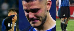 Wanda Nara pubblica foto di Icardi in lacrime con la maglia dell'Inter: un addio o nostalgia?
