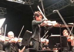 Christian Li, 11 anni, durante un'esibizione con la Melbourne Symphony Orchestra