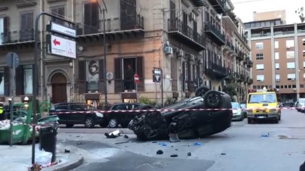 Incidenti, Palermo, via roma, Claudio Amorosi, Marianna Gangi, Palermo, Cronaca