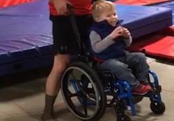 Wyatt Burggraff, quattro anni, ha la spina bifida