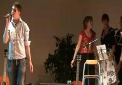 L'esibizione al saggio degli allievi di Musicopoli