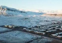 La inusuale nevicata nella città di Las Vegas, nel cuore del deserto del Nevada