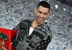 Il vincitore del Festival di Sanremo in sala stampa