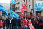 Protesta dei lavoratori dello Spaccio Alimentare a Palermo