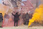 I tifosi hanno manifestato per esprimere il loro sostegno ai giocatori rosanero