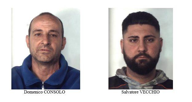 furto, Domenico Consolo, Salvatore Vecchio, Catania, Cronaca