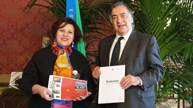 console, Marocco, Fatima Baroudi, Leoluca Orlando, Palermo, Politica