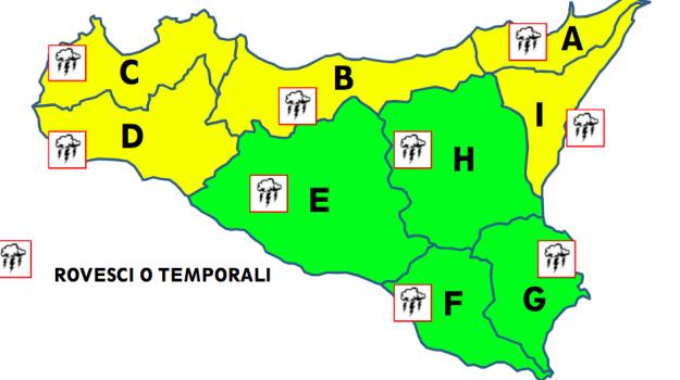 allerta gialla, Maltempo, Sicilia, Cronaca