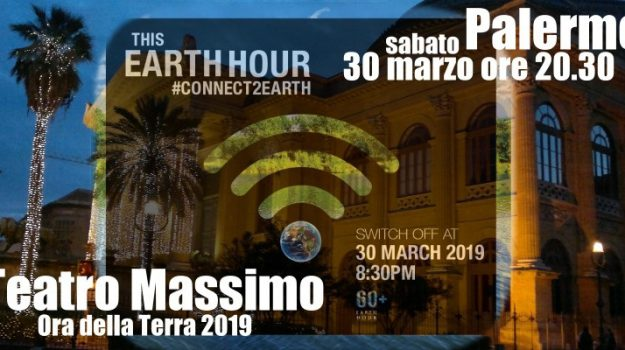 Earth Hour, luce, teatro massimo, Palermo, Società
