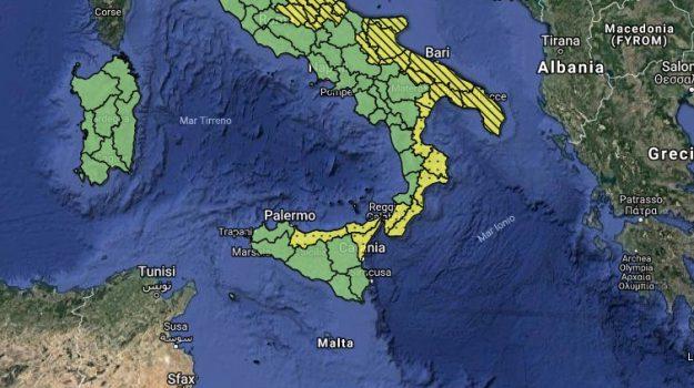 allerta gialla, Maltempo, Sicilia, Palermo, Cronaca