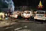 Quattro auto a fuoco a Nunziata di Mascali: forse un rogo di natura accidentale