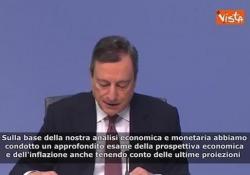 Bce, Draghi: «Tassi fermi fino a 2019» La conferenza stampa di Mario Draghi dopo la riunione periodica del Consiglio Direttivo - Agenzia Vista/Alexander Jakhnagiev