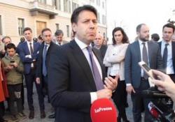 Conte: «Flat tax? È nel contratto, va completata» Così al termine del vertice in Prefettura a Cuneo sulla Asti-Cuneo. - LaPresse