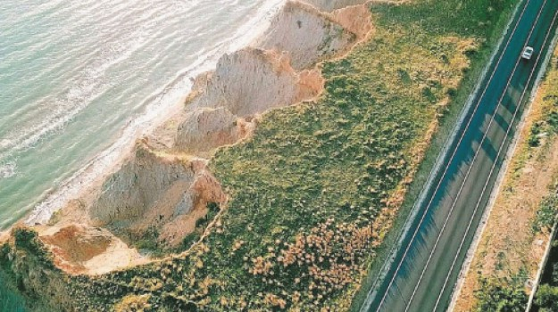 anas, Erosione Costiera, statale 640, Agrigento, Cronaca