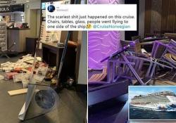 La nave da crociera colpita dalla raffica di vento s'inclina: paura e feriti tra i passeggeri Folate di vento contro la  Norwegian Escape in Usa - CorriereTV