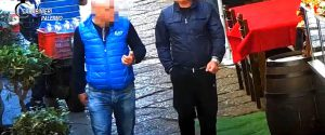Un fermo immagine del video diffuso dai carabinieri