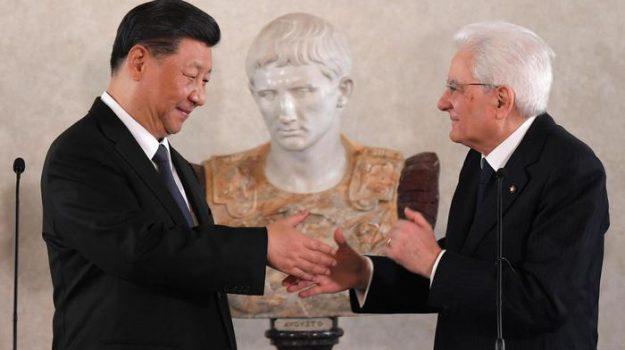 CINA, italia, presidente cinese, Xi Jinping a Palermo, Sergio Mattarella, Xi Jinping, Sicilia, Politica