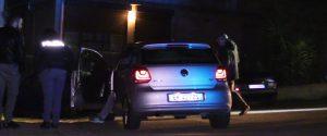 L'auto con a bordo Francesco Manzella e nel riquadro la vittima