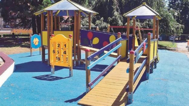 Parco per bimbi disabili, quartiere San Luca, viale Candura, Caltanissetta, Cronaca
