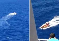 Pilota e passeggero alla deriva nell'Oceano salvati dalla nave da crociera Due americani si erano schiantati con il loro aeroplano in mezzo ai Caraibi - CorriereTV