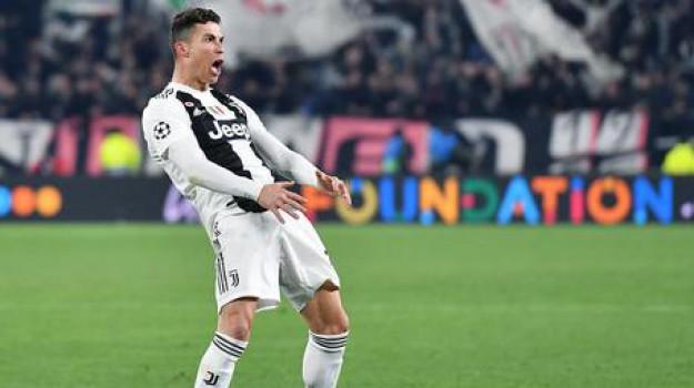 gesto Cr7, Juventus-Atletico, Cristiano Ronaldo, Sicilia, Sport