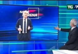 Siparietto tra Mentana e Giletti: «Ho letto che abbiamo litigato, Potevi dirmelo...» Il siparietto durante il TgLa7. Le  voci  sui social di presunte liti tra direttore e  conduttore  - Corriere Tv