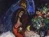Marc Chagall Gli innamorati con lasino blu,1955 ca. Olio su tela, 30x27 cm Private Collection, Swiss  Chagall, by SIAE 2019