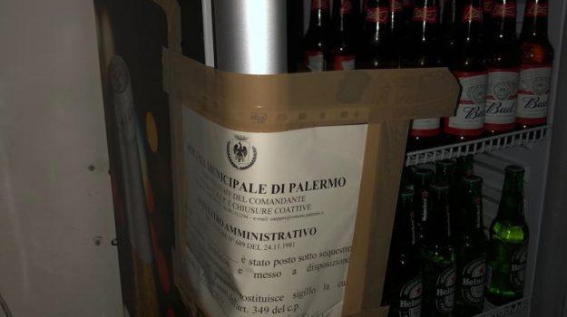polizia municipale, pub, via candelai, Palermo, Cronaca