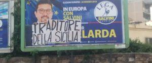 """Scritta contro Igor Gelarda a Palermo: """"Traditore della Sicilia"""""""