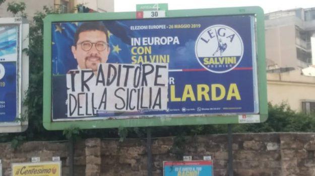 intimidazione, scritta, Igor Gelarda, Palermo, Cronaca